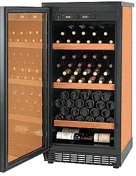 Armadio climatizzato per la conservazione dei vini